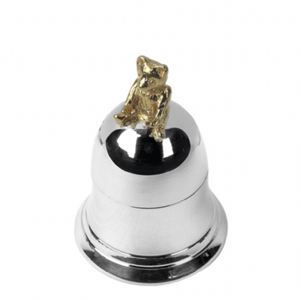 Sterling Silver Teddy Bell Tooth Box